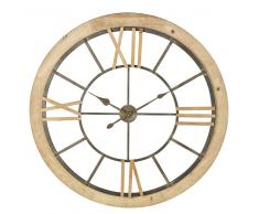 Reloj de abeto y metal negro D.100