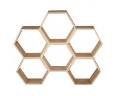 Estantería nido de abeja de roble