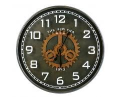 Reloj de engranajes de metal negro D.113