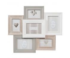 Marco para 6 fotos de madera 53 x 60cm CANTINE