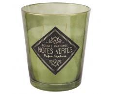 Vela perfumada en tarro de cristal verde NOTES VERTES