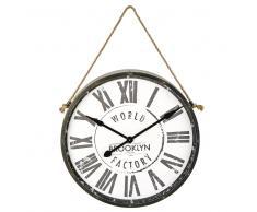 Reloj de metal negro 71x101