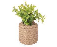 Planta artificial en maceta de cuerda