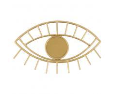 Colgador ojo con 1 gancho de metal dorado