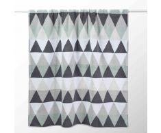 Toalla de baño blanca/gris de algodón 100 × 150cm TRIANGLE