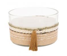 Vela perfumada de 3 mechas en tarro de cristal con cuerda