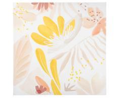 Lienzo blanco con estampado floral multicolor 50x50
