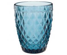 Vaso de cristal azul CARAT