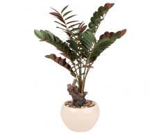 Planta tropical artificial en maceta blanca