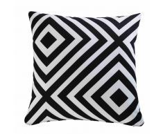 Cojín de jardín con motivos geométricos en blanco y negro 45x45 NAHIRA