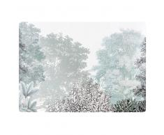 Mantel individual de corcho estampado con paisaje de invierno