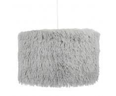 Lámpara de techo de algodón de imitación a piel gris