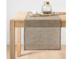 Camino de mesa de algodón beige 45x150