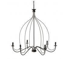 Lámpara de araña de metal negra D.100