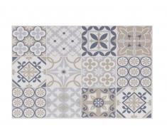 Mantel individual de vinilo con motivos decorativos de azulejos de cemento multicolores