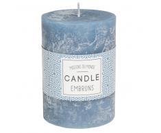 Vela perfumada cilíndrica azul oscuro 7 x 10 cm