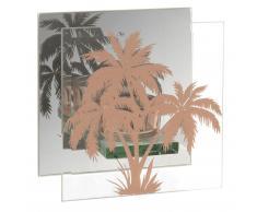 Candelabro de cristal con estampado de palmeras doradas