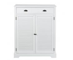 Mueble zapatero con 2 puertas y 1 cajón blanco Barbade