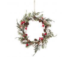 Corona de Navidad con efecto esmerilado 18x18