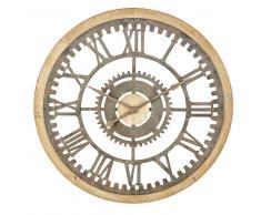 Reloj con engranajes de abeto y metal con efecto envejecido D.100