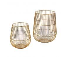 2 candelabros dorados