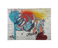 Lienzo grafiti multicolor 80x110