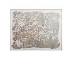 Lienzo de lino con estampado floral 152x122