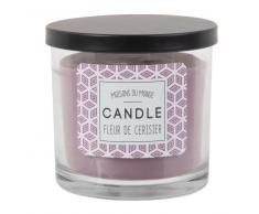 Vela perfumada en tarro de cristal violeta
