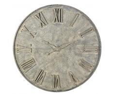 Decoración reloj falso de metal gris con efecto envejecido D.160