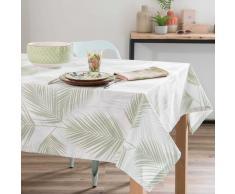 Mantel de algodón con estampado de follaje 250x150 cm PALME
