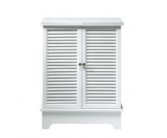 Mueble bar de madera blanco An. 80 cm Barbade