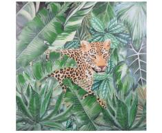 Lienzo con estampado de leopardo 80x80
