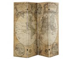 Biombo con impresión de mapa antiguo