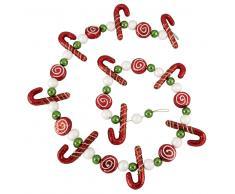 Guirnalda de Navidad con dulces roja y verde L.152