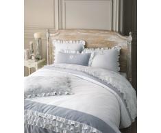 Juego de cama 220 x 240 cm de algodón blanco RAPHAEL