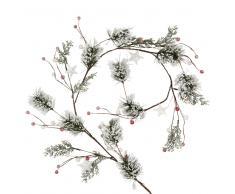 Guirnalda de navidad con ramas de pino nevadas L.130