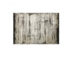 Alfombra de algodón imitación madera 140x200