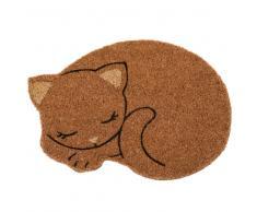 Felpudo gato de fibra de coco 48x34