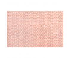 Mantel individual rosa con motivos decorativos