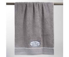 Toalla de baño gris de algodón 50 × 100 cm JEANNE