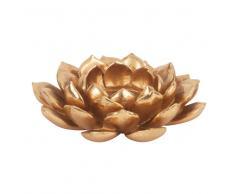 Candelabro en forma de flor dorada