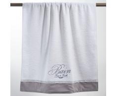 Toalla de ducha blanca de algodón 70 × 140 cm BAIN
