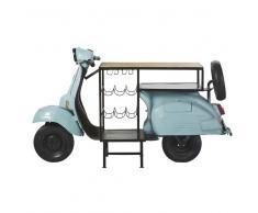 Mueble bar scooter azul de metal y mango Scooter