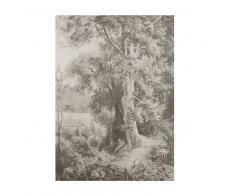 Lienzo con impresión de paisaje en blanco y negro 115x200