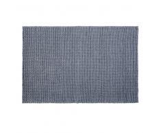 Alfombra de lana trenzada gris antracita 140x200