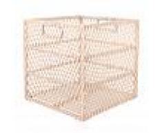 Maisons du Monde Cesta cuadrada de bambú y ratán
