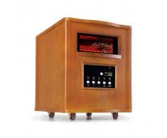 Klarstein Heatbox Radiador por infrarrojos 1500W Temporizador de 12h Mando a distancia Roble
