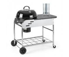 Klarstein Meatpacker Set XXL parrilla leña carbón BBQ ahumador + encendido eléctrico