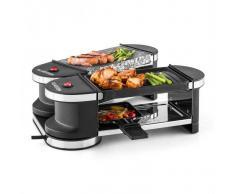 Klarstein Tenderloin Mini Raclette-Grill 600W 360°-Basis bandeja de grill y piedra caliente