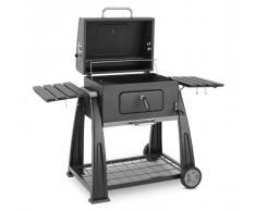 Klarstein Bigfoot Barbacoa a carbón Ahumador de carne BBQ-Grill 55 x 40 cm Acero negro